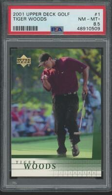 2001 Upper Deck Golf #1 Tiger Woods RC Rookie PSA 8.5