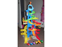 Fisher Price Little People City Skyway with 6 cars