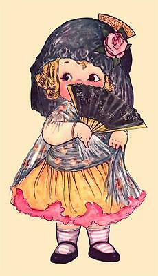 DOLLY DINGLE, IN SPANISH COSTUME, PAPER DOLLS, GRACE DRAYTON, MAGNET](Costume In Spanish)