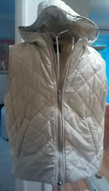 Ladies Barbour hooded gilet/bodywarmer, size 14