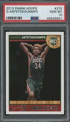 2013 Panini Hoops #275 Giannis Antetokounmpo RC Rookie Gem Mint PSA 10