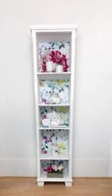 Handpainted and decopaged bookcase designers guild paper