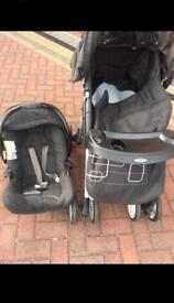 Graco pushchair with car seat 2in1