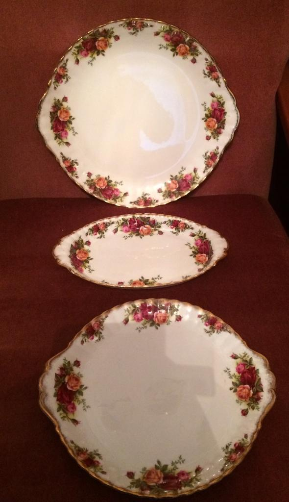 Royal Albert Cake Plates and Oval Sandwich Platter