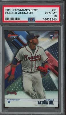 2018 Bowman`s Best #51 Ronald Acuna Jr RC Rookie Gem Mint PSA 10