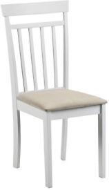 Julian Bowen Coast White Dining Chairs, Set Of 4 Chairs, Wood