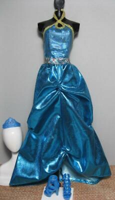 2010 Barbie Doll HADLEY Princess Charm School blair BLUE long Dress/School SHOES Barbie Blue Princess Doll