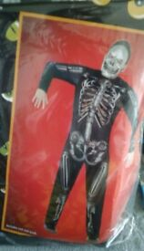 BRAND NEW IN PACK SKELETON MAN SUIT FULL COSTUME WITH MASK (size M-L) 2 AVAILABLE