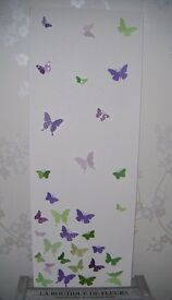 Butterfly Canvas/Wall Art/Glittery 12 x 31.5 Inch