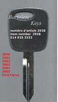 Transponder Key Fits 2000 2001 2002 2003 2004 2005 Ford Focus