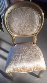 chair in stunning gold