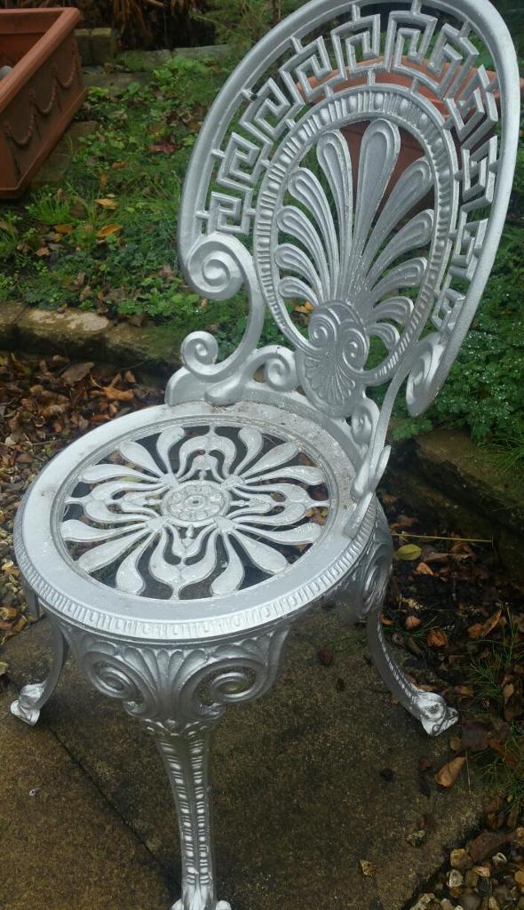 Cast iron garden chair ornate