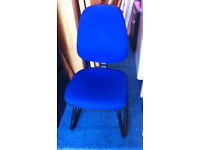 office blue fabric chair for reception desk