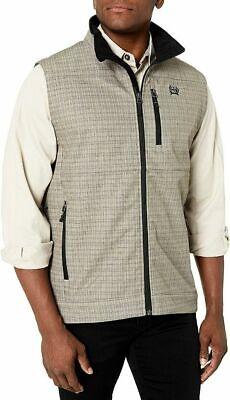 Cinch Men's Bonded Vest Stone Plaid Print MWV1083010-STN ~ NEW ~ All Sizes! Plaid Print Vest