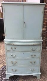 Shabby Chic Vintage Cupboard Bureau - Delivery Available