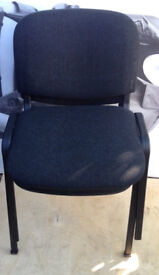 office professional chair black grey conference meeting stacking
