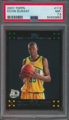 2007 Topps #112 Kevin Durant RC Rookie PSA 7.5