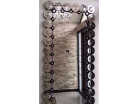 "Stunning Designer Modern Style Silver Rectangle Wall Mirror Extra Large 195 X 93 cm (6'4"" x 3')"
