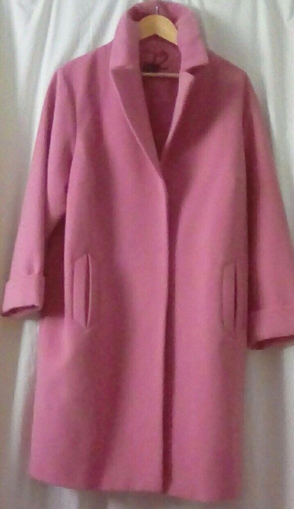 M&S Pink Coat size 18