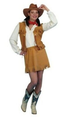 Cowgirl Deluxe Adult Costume Peter Alan Size Large 12-14](Alan Costume)