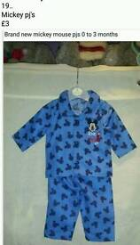 Disney Mickey mouse pj's 0 to 3 months