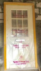 BRAND NEW COMPOSITE DOOR ( complete with frame,letterbox handles lock ,spy hole etc