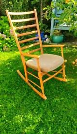 Vintage Danish Scandinavian Midcentury Rocking Chair Great Condition