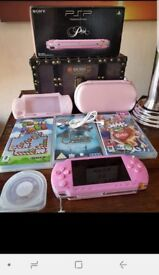 Limited edition pink PSP boxed & games