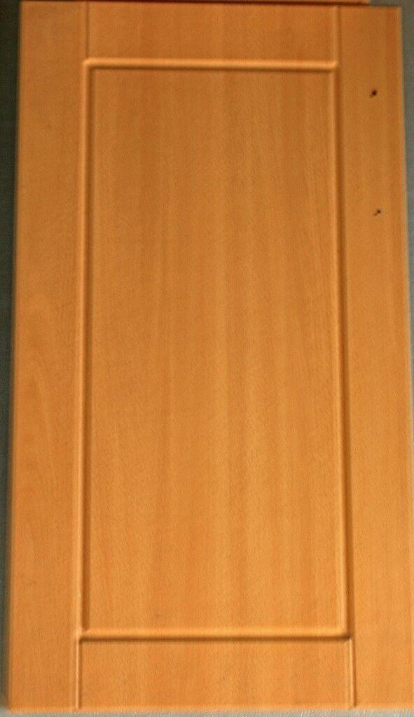 Bq Beech Effect Kitchen Cupboard Doors In Good Condition In
