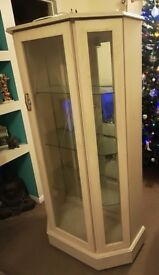 Light oak display cabinets