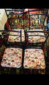 4 Dining chairs excellent condition