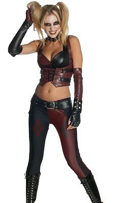 Harley Quinn Costume Batman Arkham City Asylum - XS 0-2, S 2-6, M 6-10, L 10-14