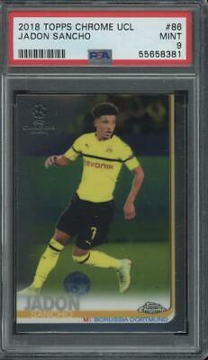 2018 Topps Chrome Champions League #86 Jadon Sancho RC Rookie Mint PSA 9