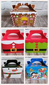 Christmas happy meal boxes
