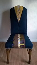 quirky upholstered vintage chair
