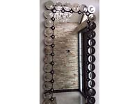 """Stunning Designer Modern Style Silver Rectangle Wall Mirror Extra Large 195 X 93 cm (6'4"""" x 3')"""