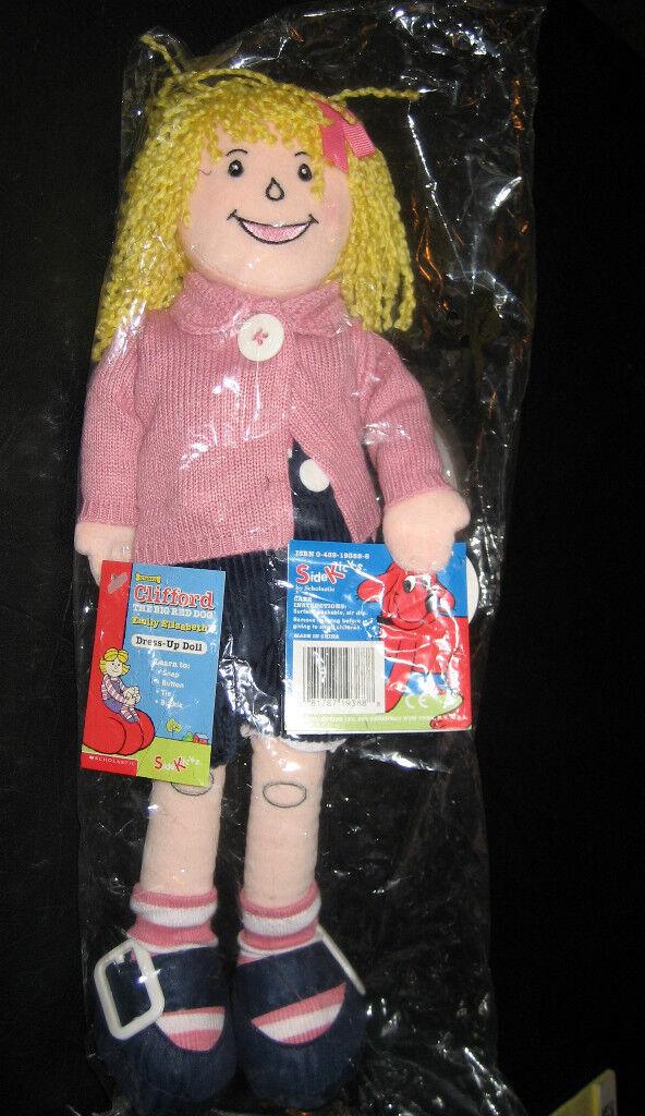 Clifford The Big Red Dog emily Elizabeth 14-1/2 Tall Soft Dress-up Doll