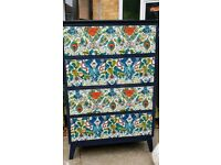 Retro vintage chest of drawers upcycled