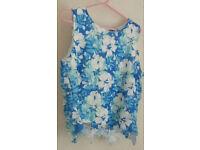 Brand Select Women Ladies Crochet Top Size 14