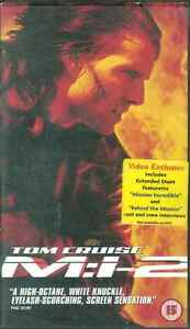 Mission-Impossible-II-Tom-Cruise-Dougray-Scott-Thandie-Newton-VHS-Tape
