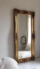 Beautiful Gold Gilded 7ft x 3ft Mirror
