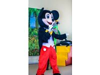 3 mascots costumes/ PARTY EVENTS COSTUMES (Mickey Mouse, Grey Mouse, White Bunny )