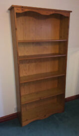 Pine Bookcase, good condition, 260 x 900 x 1800mm