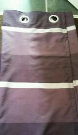 Two tone purple eyelet curtains