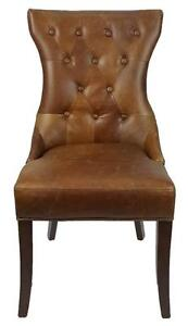 Top Grain Leather Dining Chair, 100% Genuine Cow Hide Leather - Ship all over CANADA