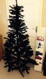 6ft black artificial Christmas tree
