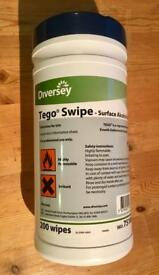 Diversey Tego Swipe Alcohol Surface Cleaner Wipes - x 3 packs - Brand New