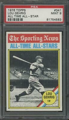 1976 Topps All Time All Star #341 Lou Gehrig Mint PSA 9