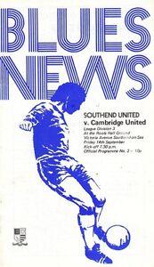 Southend-United-V-Cambridge-United-1973-Football-League-Division-3-Programme