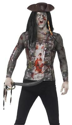 Male Pirate Halloween Costumes (ADULT MALE ZOMBIE GHOUL/HORROR HALLOWEEN FANCY DRESS  PIRATE 3D PRINT)